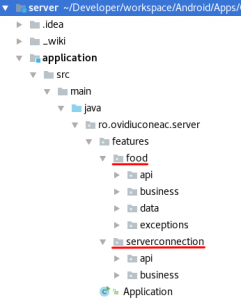 Web server application features by layer